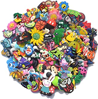 20,50,100pcs Random PVC Different Jibbitz Shoe Charms for croc Shoes Bands & Bracelet Wristband
