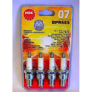 NGK Buj/ía Pieza /Única Pack para n/úmero de Stock 7822 o N/úcleo De Cobre pieza N/º BPR6ES