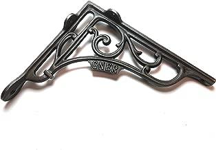 Par de soportes para estante GNER de hierro fundido envejecido 195 mm x 180 mm