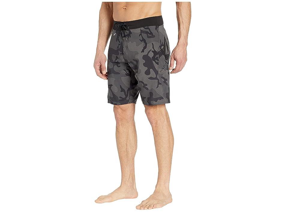 Volcom 20 Stone Mod (Blackout) Men's Swimwear, Black