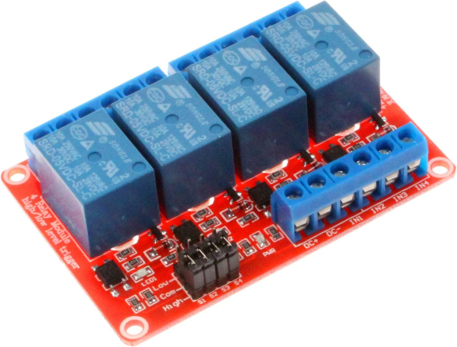 NOYITO New product 4 Channel Relay Module High Trigger Max 88% OFF Low With Level Optoco