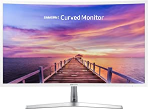 (Renewed)  Samsung 32in Full HD Curved Screen LED TFT LCD Monitor Glossy White MagicBright FreeSync Technology Eco Saving Plus Eye Saver DisplayPort HDMI (LC32F397FWNXZA)