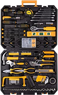 198 Piece Mechanics Tool Set Socket Wrench Auto Repair Tool Combination Mixed Tools Set Hand Tool Kit with Plastic Toolbox...