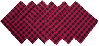"""DII Logger Check Oversized Basic Everyday Napkin (Set of 6), 20"""" x 20"""""""