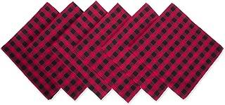 DII Logger Check Oversized Basic Everyday Napkin (Set of 6), 20