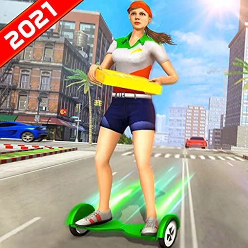 Pizza Delivery Girl Hoverboard Spiele 2021