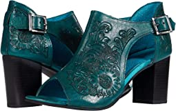 Turquoise Floral Tooled Leather