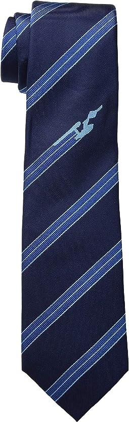 Enterprise Flight Blue Stripe Tie