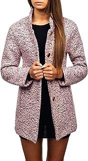 Mujer Abrigo Cierre De Botones Cuello Alto D4D Motivo