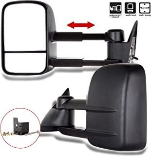 SCITOO Tow Mirrors Compatible with 1988-1998 Chevrolet Gmc C K 1500 2500 3500 Truck Black Towing Mirrors with Power Left Right Side