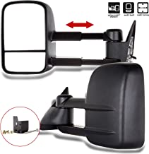 SCITOO Towing Mirrors, fit Chevy GMC Exterior Accessories Mirrors fit C1500 C2500 C3500 K1500 K2500 K3500 1988-1998 with Convex Glass Power Adjusting Manual Telescoping
