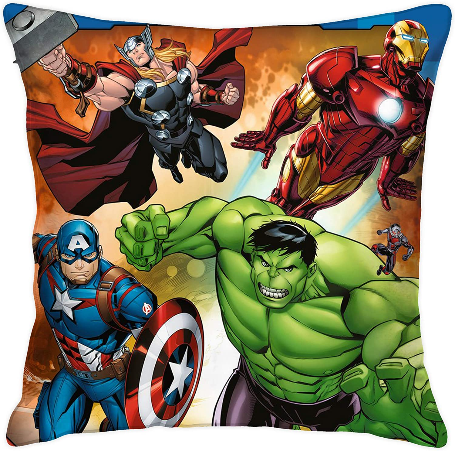 Marvel Avengers Decorative Pillow Cover Designed as a for Fans Pillow Cover Size:in 18