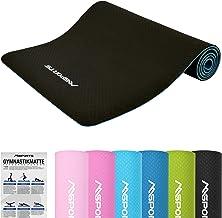 MSPORTS Gymnastiekmat Yoga Premium incl. oefenposter 183 x 61 x 0,8 cm | Huidvriendelijk - ftalaatvrij fitnessmat yogamat