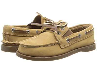 Sperry Kids Authentic Original Slip On (Toddler/Little Kids) (Sahara Leather) Kid