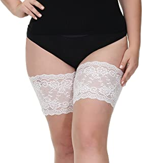 Lace Anti Chafing Thigh Bands With Buckle For Women, Pluz...