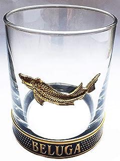 Beluga Vodka Gold Tumbler Trinkglas, Exklusive Bar Glas