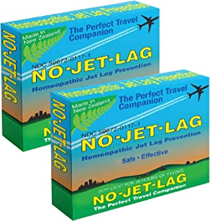 Miers Laboratories No Jet Lag Homeopathic Remedy + Fatigue Reducer for Airplane Travel Across Time Zones - 32 Count Chewab...