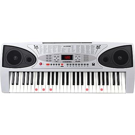 McGrey LK-5430 - Teclado de 54 teclas con teclas luminosas, micrófono y soporte para notas