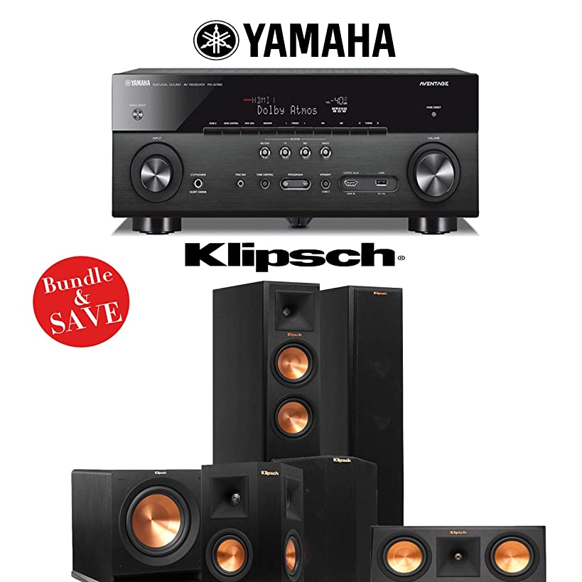 Klipsch RP-250F 5.1 Reference Premiere Home Theater System with Yamaha AVENTAGE RX-A760BL 7.2-CH A/V Receiver