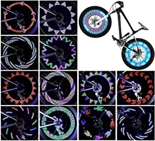 Bicycle Wheel Lights (2-Tire Pack), LED Waterproof Bike Spoke Lights, Safety Ultra Bright Bike...