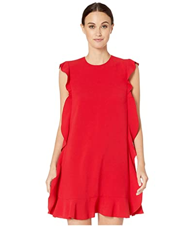 RED VALENTINO Fluid Crepe Dress (Lacca) Women