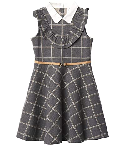Janie and Jack Windowpane Ponte Dress (Toddler/Little Kids/Big Kids) (Multi) Girl