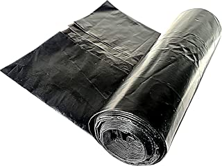 One Roll of 10 Black Bin Bags Heavy Duty Extra Large, Refuse Sacks, Bin Liners, Bin Bags to Collect Kitchen Home Waste by Using Black Recycling. Easy to Use Removal Office Garden Home Trash Bags