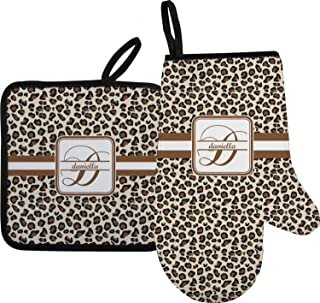 leopard print oven mitts