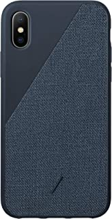 Native Union Clic Canvas Case - Premium Woven Fabric Cover - Compatible with iPhone Xs Max (Navy)