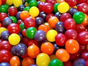 Assorted Fruit Sours Chewy Candy Balls - 2 lbs of Tart Fresh Delicious Cherry Orange Apple Lemon Grape Candy