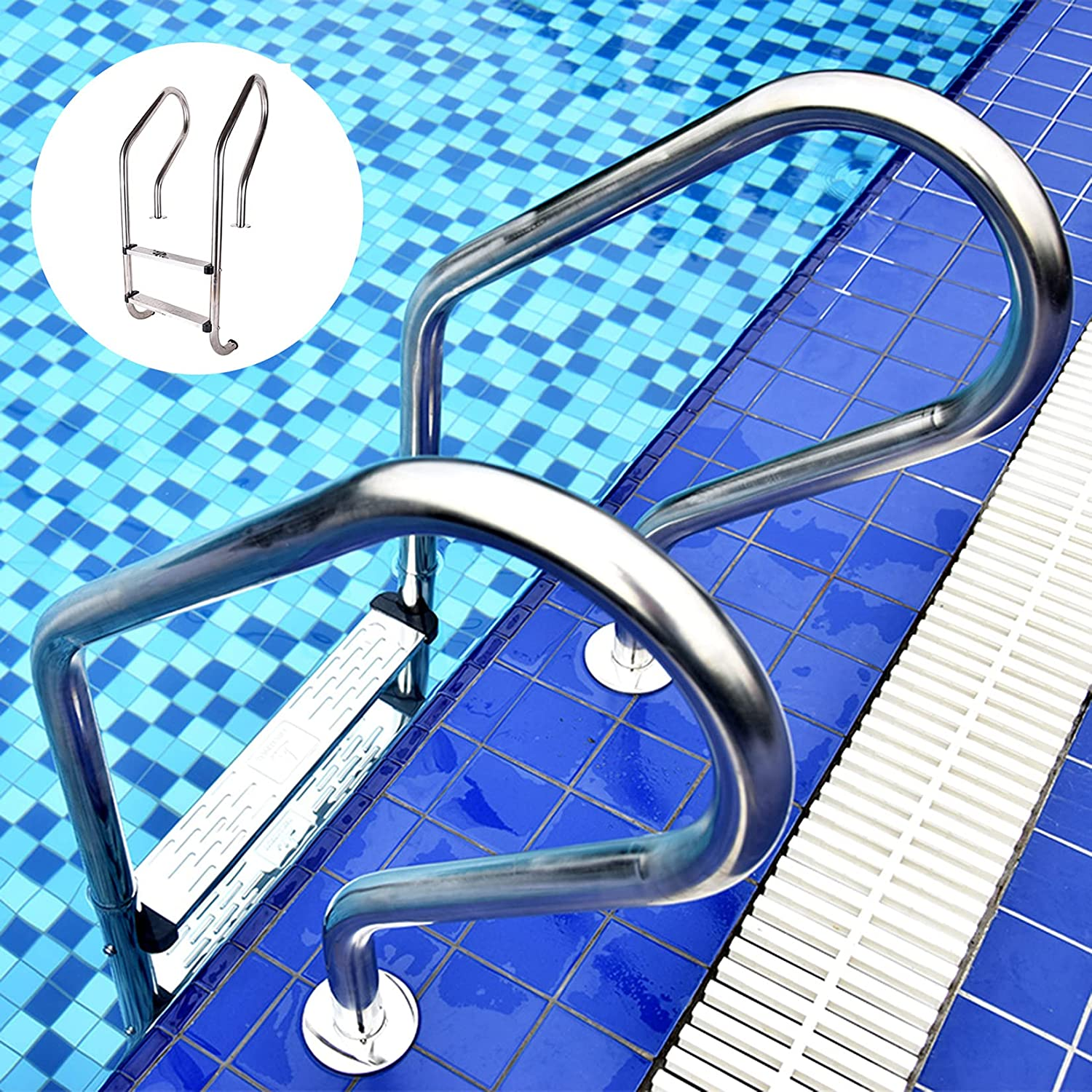 Handrail Railing Dedication Don't miss the campaign Pool Stair Ladders Anti-silp Pedal with