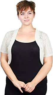 Plus Size Womens Ladies Plus Size Diamond Knit Pattern Topper Open Front Cardigan (See More Colors and Sizes)