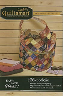 Mondo Bag Fun Pack - Pattern and Printed Interfacing by Quiltsmart,Multicolor