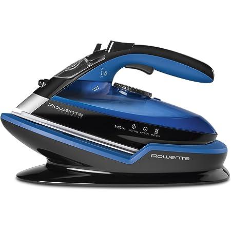 Rowenta Freemove DE5010 Plancha sin cable con golpe de vapor 115 g/min, sin cable, 250 ml, suela Microsteam 400 láser, autoapagado y antical, todo tipo de tejidos, Azul/Negro
