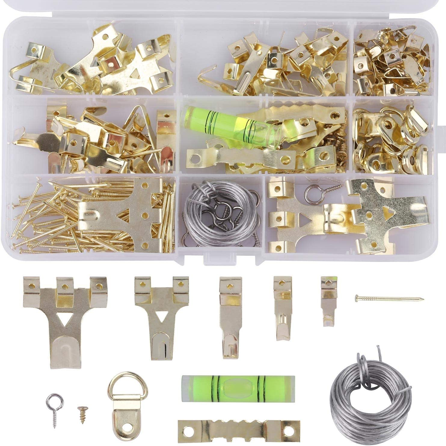 220 Outlet SALE Pcs Picture Hanging Kit Heavy Small and Duty Nails 1