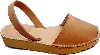 Menorca Menorquin Avarcas with Wedge/Platform of 2.5 cm Beige. Menorcan Sandals, Avarcas Menorquinas, Leather, Abarcas