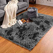BAYKA Machine Washable Fluffy Area Rug Indoor Ultra Soft Shag Area Rug for Bedroom, Non-Slip Floor Carpet for Kids Home De...