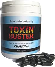 500 Vegan Toxin Buster Potentised Hardwood Charcoal Capsules Effective Detox Aid Digestive Aid Safe for Daily Use Naturally Active NOT Activated or Medicinal Estimated Price : £ 44,75