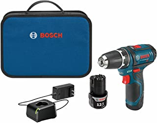 BOSCH Power Tools Drill Kit - PS31-2A - 12V, 3/8 Inch, Two Speed Driver, Cordless Drill Set - Includes Two Lithium Ion Bat...