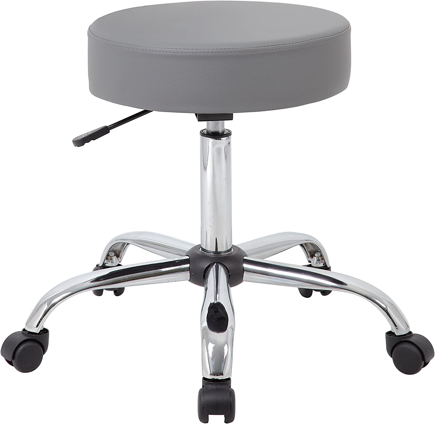 Boss Office Products B240-GY Adjustable Upholstered Medical Stool in Grey