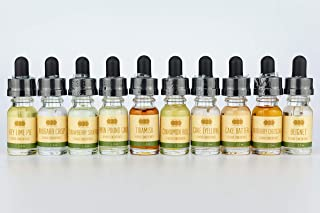 OOOFlavors Low Carb Dessert Variety 10 x 10 ml Bottle Pack - Flavored Liquid Concentrate Unsweetened
