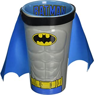 ICUP DC Batman Molded Caped Ceramic Pint Glass, Clear