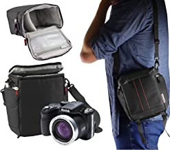 Navitech Black Digital Camera Carrying Case and Travel Bag Compatible With The  Kodak Pixpro AZ421