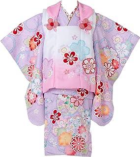 七五三 着物 3歳 被布セット 日本の晴着 陽気な天使 パープル 3400-00112