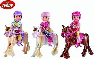 By Teddy Kiki Love Three Cute Ponies Doll Set | Kiki and Friends Horse Riding Equestrian Set
