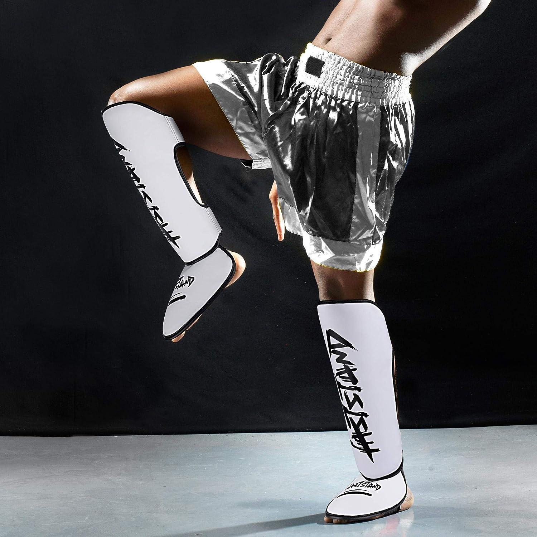 ASTSTAND Standup Shinguards,Boxing Martial Arts Sports Shin Instep Guard Sparring Protective Leg Shin Kick Pads for Kickboxing MMA Muay Thai,Leg Protectors for Adults Men Women Kids