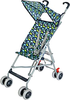 Moon Jet-Ultra light weight/Compact fold Buggy Stroller/pram,-Suitable for kids ( from 6 months to 3 years) - Dino, black