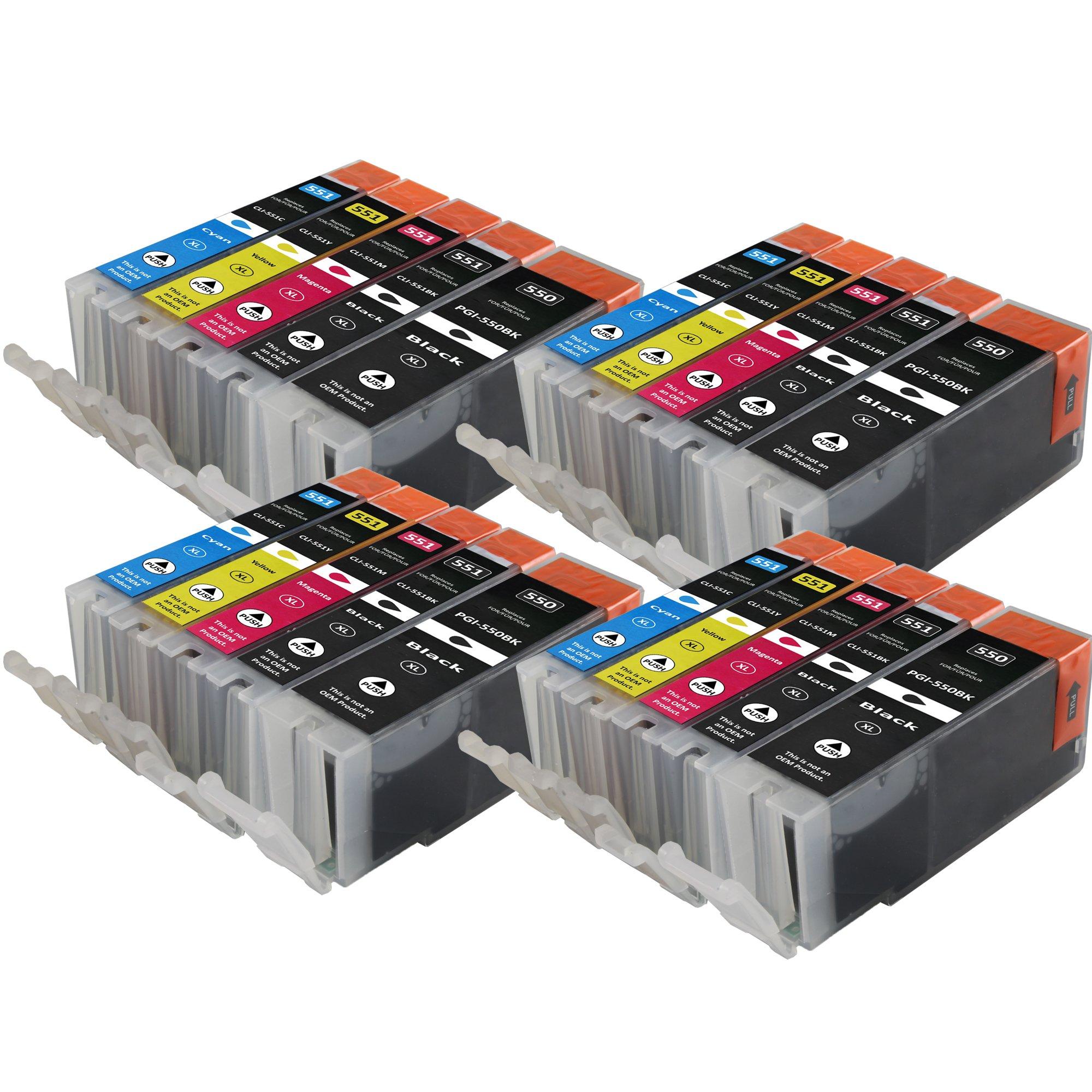 Cartuchos de impresora compatible para Canon PGI-550 XL + CLI-551 ...