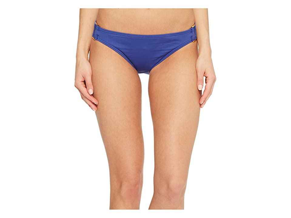 Tommy Bahama Pearl Hipster Bikini Bottom with Rectangle Hardware (Dark Sanibel Blue) Women
