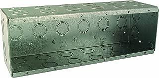 Hubbell-Raco 965 3-1/2-Inch Deep 134.8 Cubic Inch 6-Gang Nongangable Masonry Box
